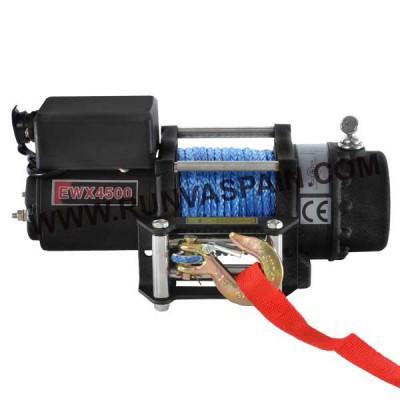 CABRESTANTE EWX4500 - 2041kg, 12v, mando inalámbrico y cable sintético