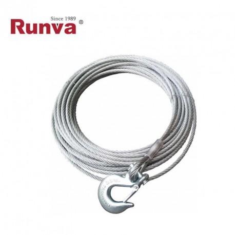 Cable acero 9mm x 26m con gancho (EW8000-EW9500-EW10000)