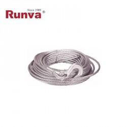 Cable acero 5,4mm x 15m con gancho (EW3500)
