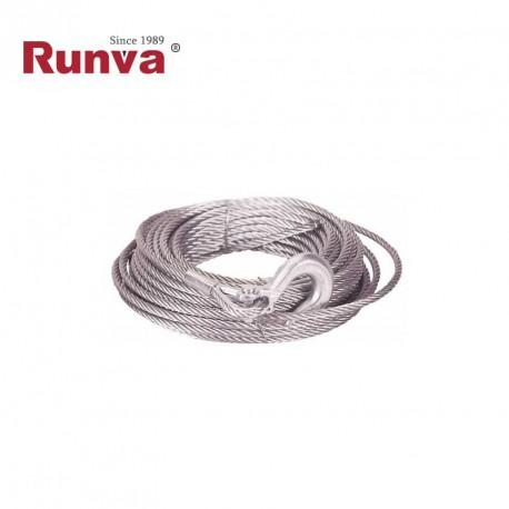 Cable acero 6,4mm x 14,5m con gancho (EW4500)