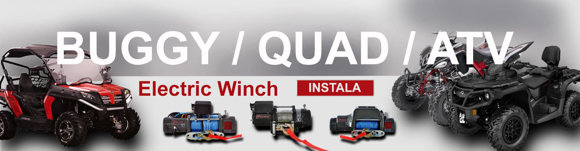 Winche Eléctrico Buggy Quad ATV